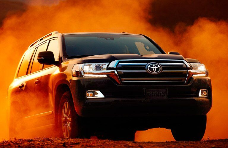 Black 2017 Toyota Land Cruiser Front Exterior on Gravel Road