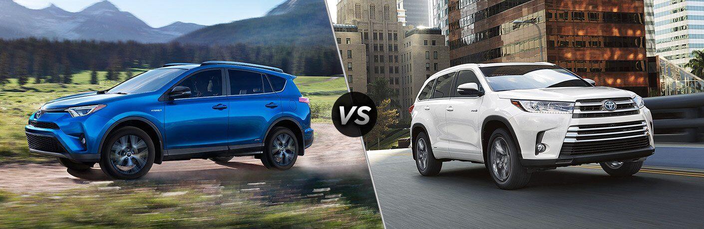 2017 Toyota RAV4 vs 2017 Toyota Highlander