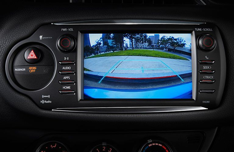 Close Up of 2018 Toyota Yaris Rearview Camera