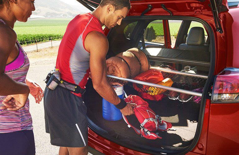 2017 Toyota RAV4 Cargo Space with Gear and Accessories
