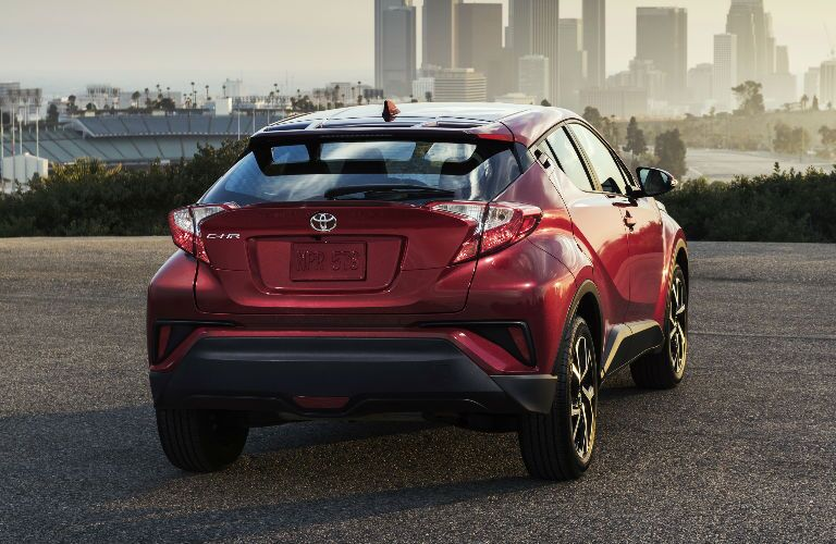Red 2018 Toyota C-HR Rear Exterior
