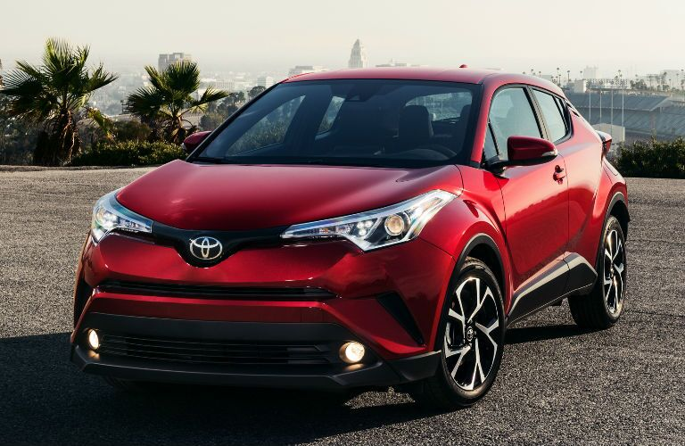 Red 2018 Toyota C-HR Front Exterior