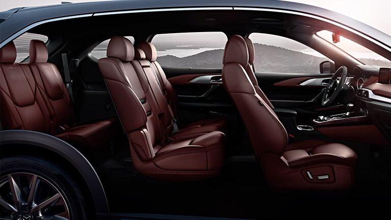 Interior of the 2016 Mazda CX-9 offers a roomy passenger and cargo capacity