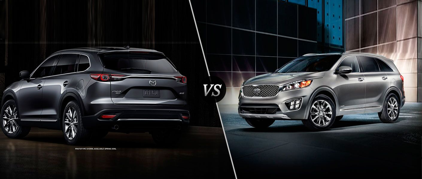 2016 Mazda CX-9 vs 2016 Kia Sorento
