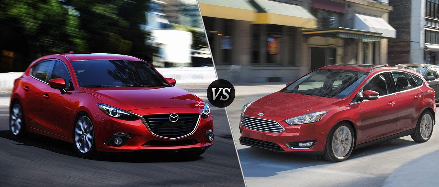 2016 Mazda3 Hatchback vs 2016 Ford Focus Hatchback