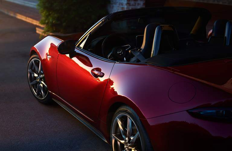 2017 Mazda MX-5 Miata exterior profile at sundown
