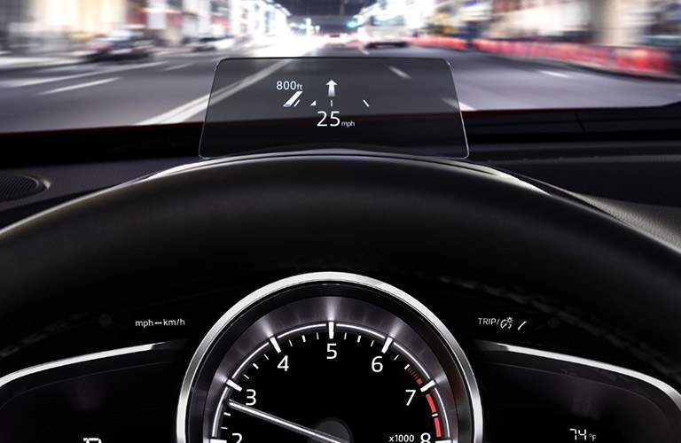 2018 Mazda CX-3's heads-up display