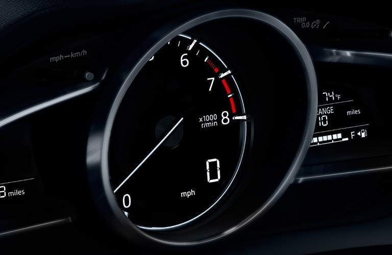 RPM gauge of the 2018 Mazda3 5-Door