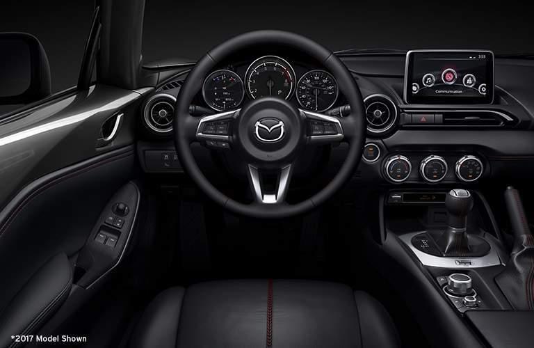 2018 Mazda MX-5 Miata RF's driver's cockpit