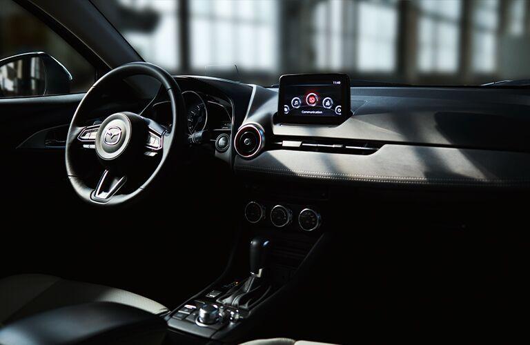 front interior of a 2021 Mazda CX-3