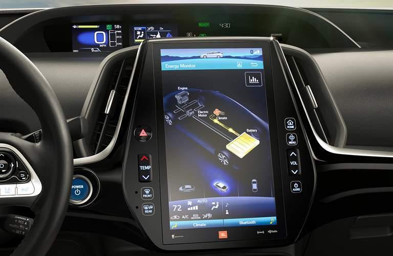 2017 Toyota Prius Prime front interior infotainment system