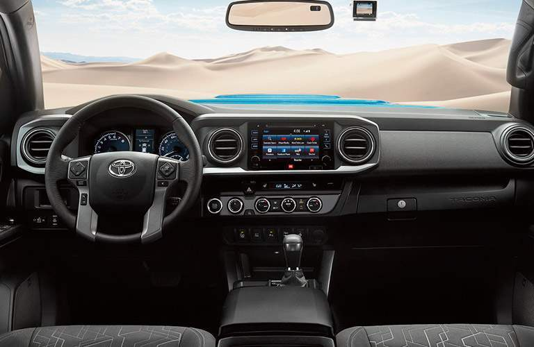 2017 Toyota Tacoma front interior driver dash and display audio
