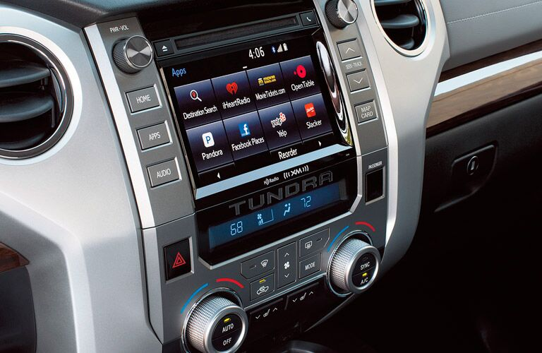 Entune infotainment system inside 2017 Toyota Tundra