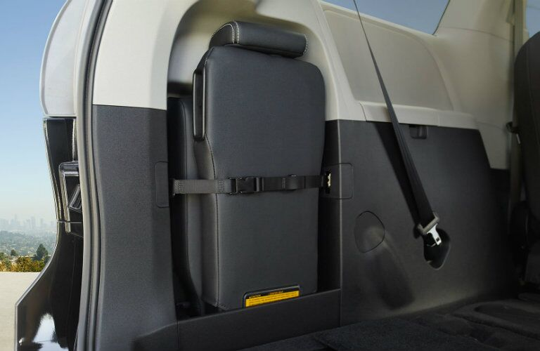 Folded seat storage in 2017 Toyota Sienna