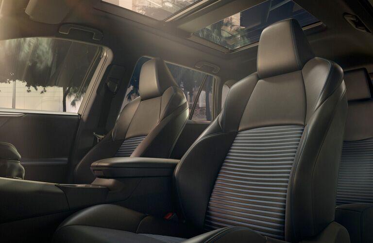 Front seat interior inside the 2019 Toyota RAV4