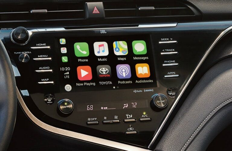 Infotainment system in the 2019 Toyota Camry
