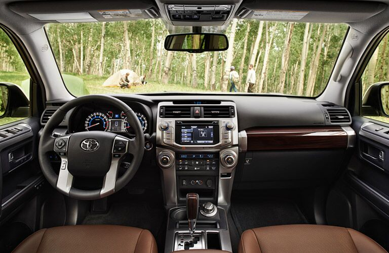front seats, dashboard, and windshield in 2016 Toyota 4Runner