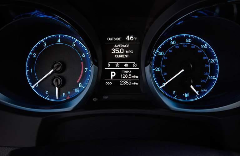 2018 Toyota Corolla gauge display