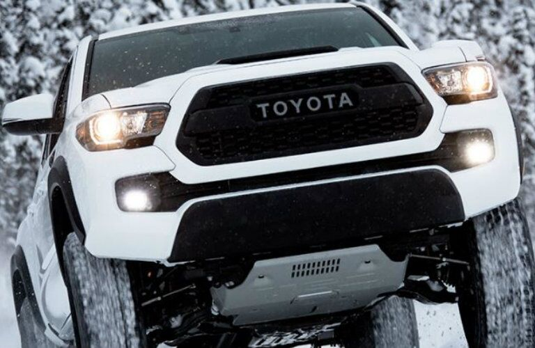 white 2017 Toyota Tacoma TRD Pro front grille