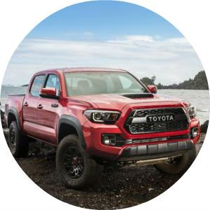 red 2017 Toyota Tacoma TRD Pro front end design