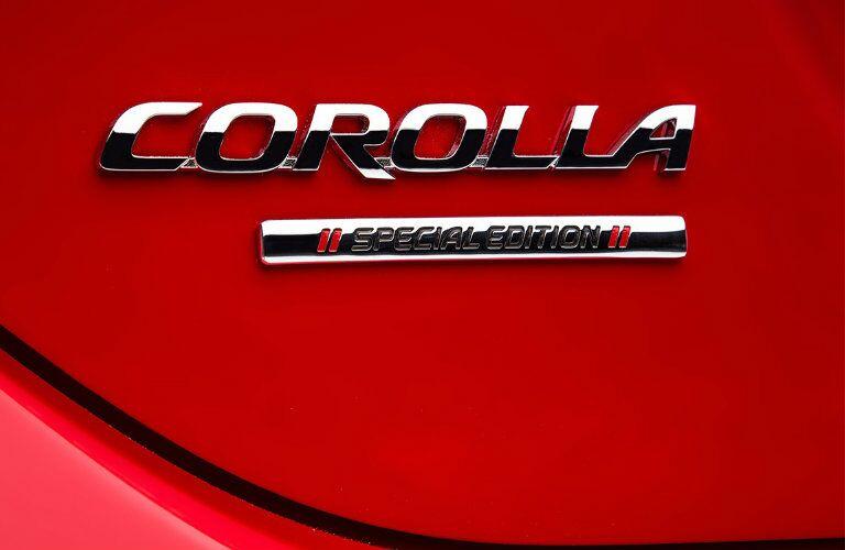 2016 Toyota Corolla Special Edition Vacaville CA badge