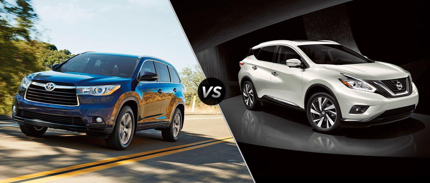 2016 Toyota Highlander vs 2016 Nissan Murano