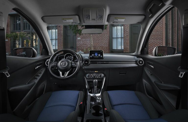 2017 Toyota Yaris Black Leather Interior