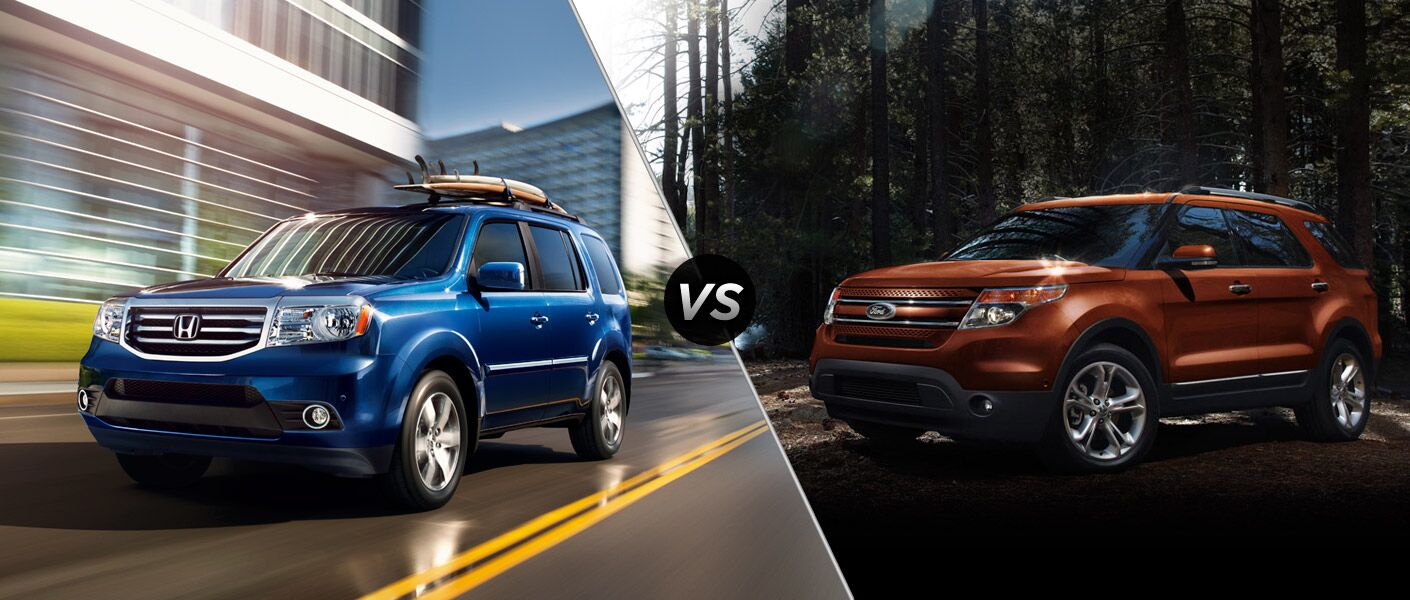 2014 Honda Pilot vs 2014 Ford Explorer