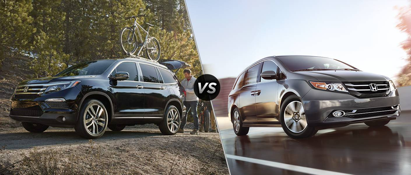 2016 Honda Pilot vs 2016 Honda Odyssey