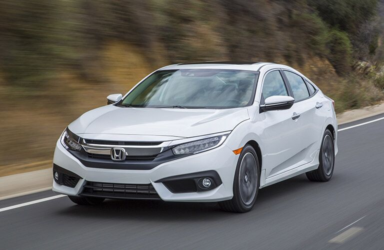 Exterior View of the 2017 Honda Civic in White