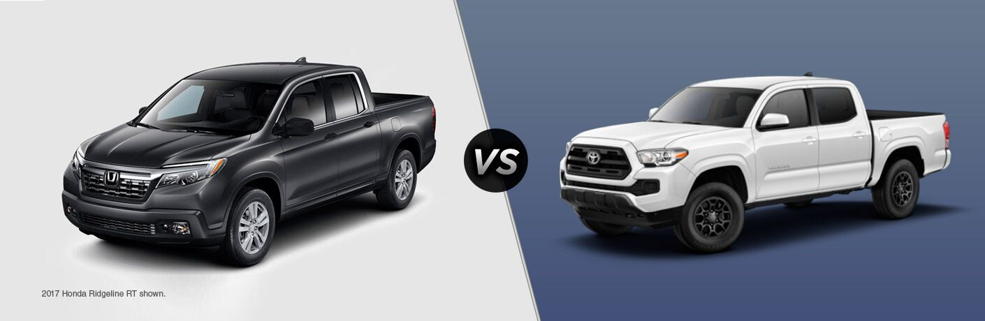 2017 Honda Ridgeline vs 2016 Toyota Tacoma