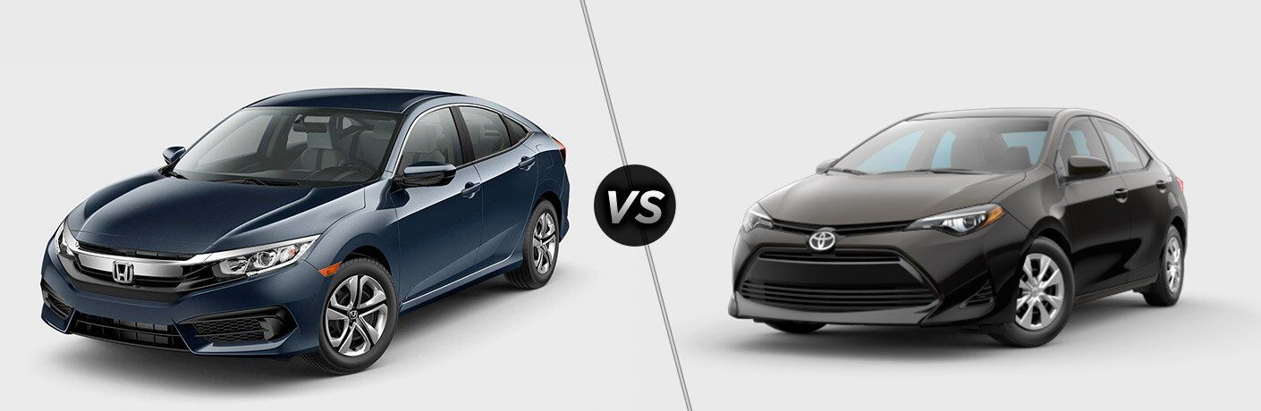 2017 Honda Civic vs 2017 Toyota Corolla