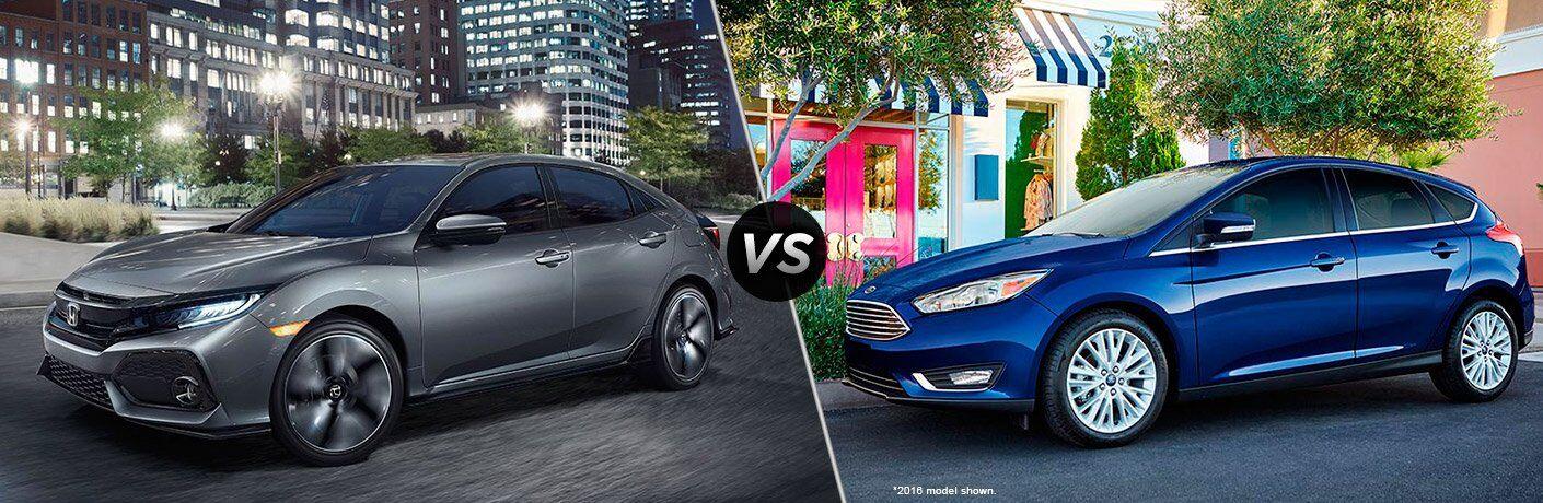 2017 Honda Civic Hatchback vs 2017 Ford Focus Hatchback