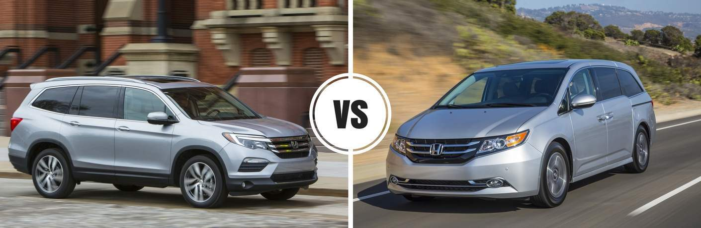 2017 Honda Pilot vs 2017 Honda Odyssey
