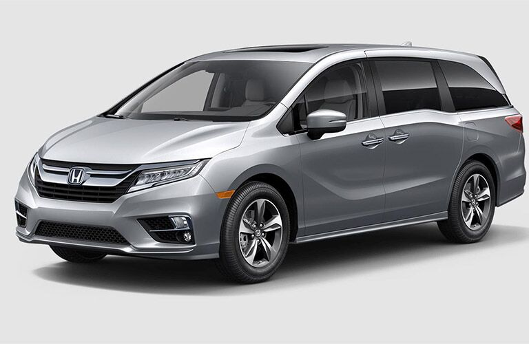 2018 Honda Odyssey on a gray background