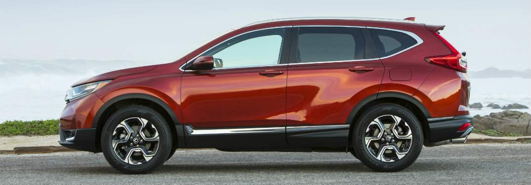 Side view of red 2018 Honda CR-V