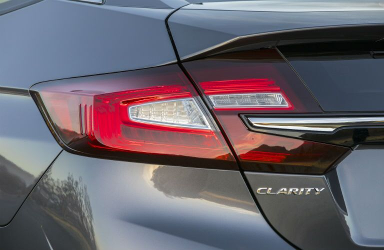 2018 Honda Clarity Plug-In Hybrid exterior close up back fascia with taillight and logo