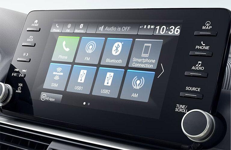 Touchscreen display of the 2019 Honda Accord