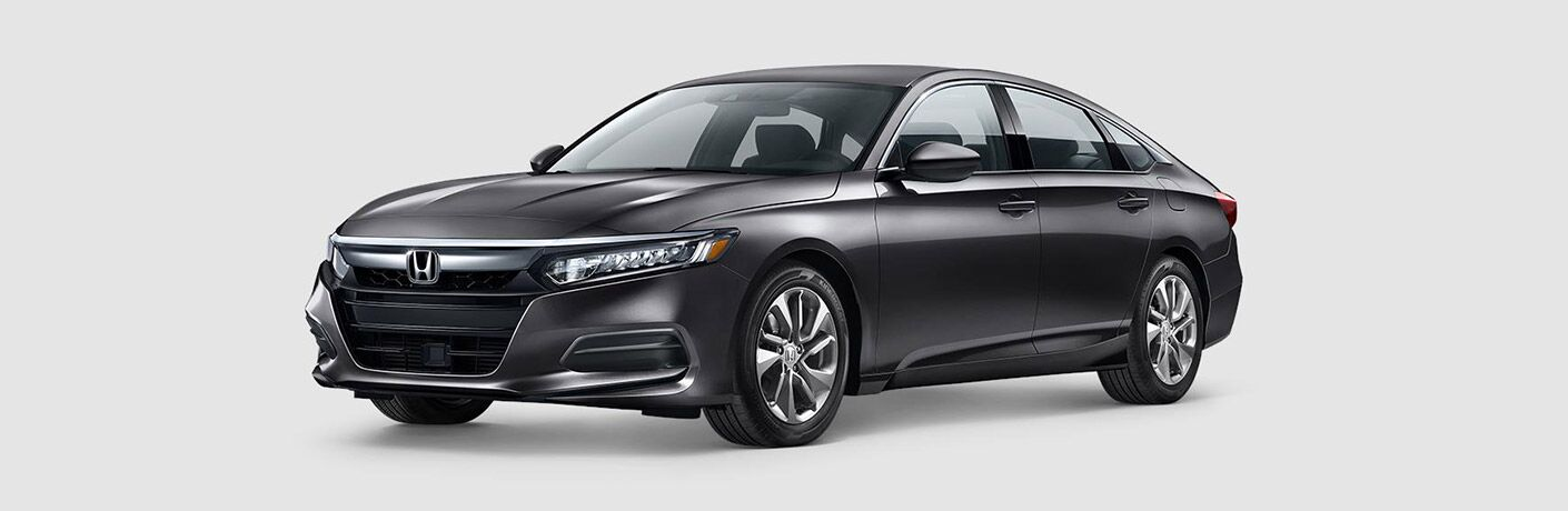 front view of isolated dark gray honda accord