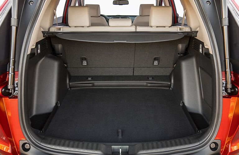 rear seats folded down in honda cr-v