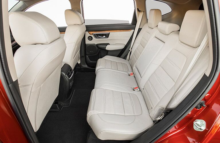 back seats inside red honda cr-v