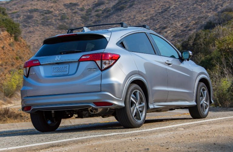 2020 Honda HR-V driving down a rural road