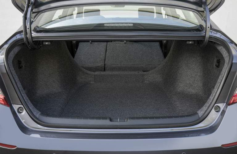 A photo illustrating how much trunk space is available in the 2018 Honda Accord