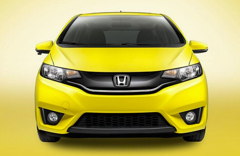 Front End View of 2017 Honda Fit in Yellow
