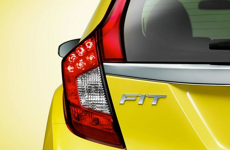 2017 Honda Fit View of Rear End Yellow
