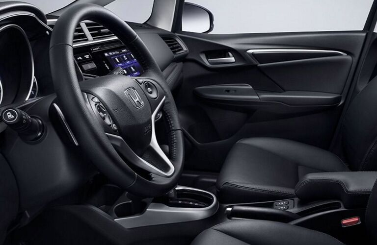 Interior View of 2017 Honda Fit in Black