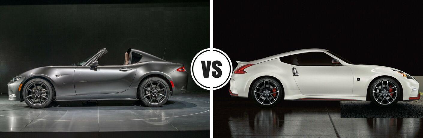 2017 Mazda Miata MX-5 RF vs 2017 Nissan 370Z Coupe