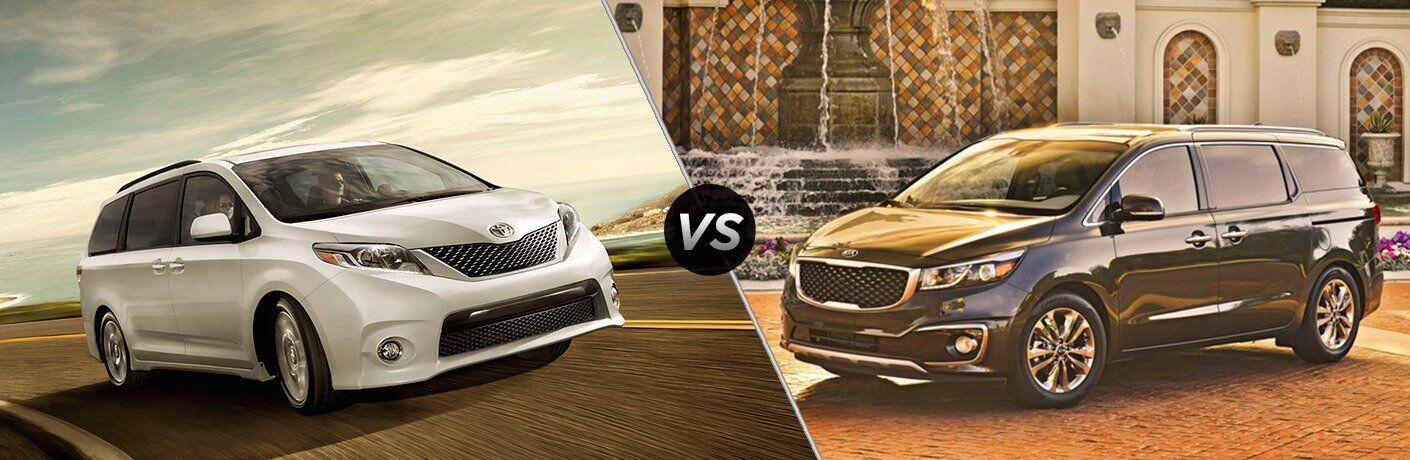 2017 Toyota Sienna vs 2017 Kia Sedona