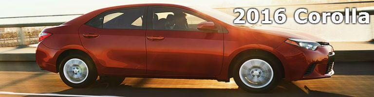 2016 Corolla model information