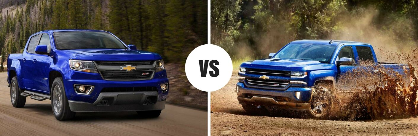 2017 Chevy Colorado vs 2017 Chevy Silverado